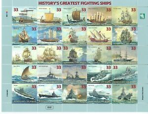 Marshall Islands Sc 680a-y History's Greatest Fighting Ships Trireme Galley, etc