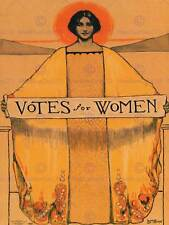 POLITICAL PROPAGANDA SUFFRAGE WOMEN USA VOTES VINTAGE ADVERTISING POSTER 1920PY