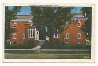 High School in MADISON CT Vintage 1937 Connecticut Postcard
