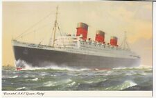 Cunard RMS Queen Mary Artist : GE Turner PPC, Unposted, c 1950's