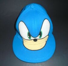 Sonic the Hedgehog Blue Fitted Hat - One Size Fits Most A-Flex