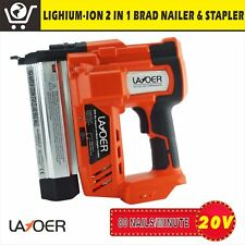 LAYOER  Brad Nail Staple Gun 2 in 1 20V Lithium 18ga Framing Nailer Nail Gun