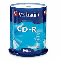 Verbatim CD-R 700MB 80 Minute 52x Recordable Disc - 100 Pack Spindle (FFP)