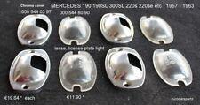 MERCEDES 190SL 300SL License light covers (2x) & lenses (2x) 000 544 03 97 / 80