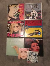 8 x RARE VINYL RECORDS, BANKSY, DAMIEN HIRST, ANDY WARHOL, KEITH HARRING, CLASH
