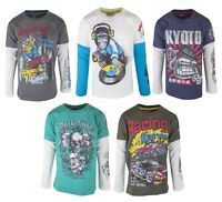 New Boys Long Sleeved T-Shirt Top Printed Graphic Motif Cotton Age 5 - 11