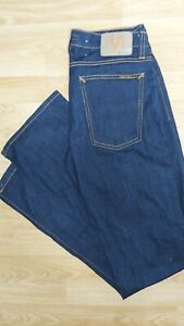 Nudie N183 Narrow Boot Cut Organic Rinsed Navy Jeans W30 Leg 32