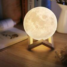 3D Moon Night Light Table Lamp USB Charging Touch Control Home Decor 15cm Gift