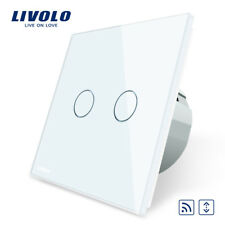 FUNK Touch Rollladenschalter Glas Weiß 2 JAHRE GARANTIE!!! LIVOLO VL-C702WR-15