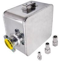 Aluminum Alloy Universal 2.5L Coolant Expansion Bottle Overflow Tank &Cap Silver