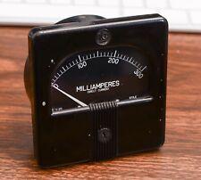 Vintage Rca Broadcast Transmitter Panel Meter 0 300ma 0 300 Milliamp