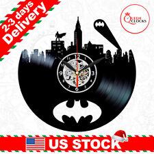 Batman Vinyl Clock Room Wall Art Superhero Decor Logo Arkham Christmas Gifts Men