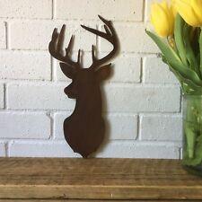 Rusty Stags Cabeza Cabeza Vaca Cráneo cornamentas Signo de Metal de inicio Tienda Bar Pub peluquería