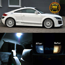 6x Canbus White LED Package Kit Interior Light For 2007-2012 Audi TT TTS