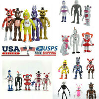 5 Or 6 PCS Set Five Nights At Freddy's FNAF Action Figure Gift Toy 6 Inchs