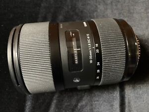 Sigma 18-35mm F1.8 DC HSM Lens for Nikon with Original Box, Accessories