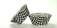 50pc Black Houndstooth Design Standard Size Cupcake Baking Cups Liners Wrappers
