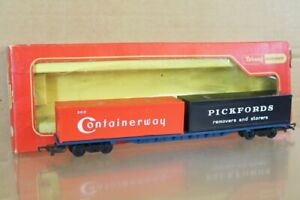 TRIANG HORNBY R634 BR FREIGHTLINER PICKFORDS CONTAINERWAY WAGON MINT BOXED ns
