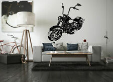 Wall Vinyl Sticker Room Decals Mural Design Chopper Bike Motorcycle Road bo1672