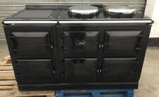 AGA DUAL CONTROL DC5 ALL ELECTRIC RANGE COOKER IN GLOSS BLACK A11