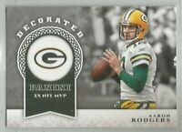 Aaron Rodgers Green Bay Packers 2017 Panini DECORATED