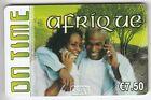 FRANCE TELECARTE / PHONECARD PREPAYEE .. 7€50 ON TIME AFRIQUE FAMILLE 12/08+N°