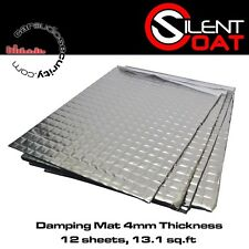 Silent Coat - Extra 4mm Sound Damping Volume Pack 12 Sheets 375 x 265 mm