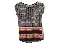 Warehouse Summer Top - Size 6 - Geometric Patterns - Multicoloured
