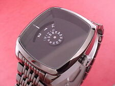 NEW DESIGN 70s Jump Hour Digital Vintage Retro Style Led Lcd era Watch GUN/black
