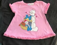 Vintage Disney Store Aristocats Pink Girls Shirt Size 4T