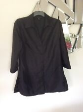 ELLEN TRACY Black Evening Wedding Formal Jacket Coat Elbow Sleeves 10 12 PC