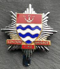 ORIGINAL LONDON FIRE BRIGADE GLC Cap Badge