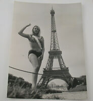 PAUL POPPER vintage Photo Foto Miss Nature France Michelle 1965 Silbergelatine