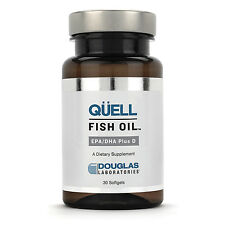 FOUR BOTTLES OF QUELL Fish Oil EPA and DHA Plus D 60 count DOUGLAS LABS 240caps