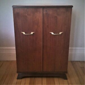 Rare Midcentury Bar Cabinet in cherry wood - PICKUP PREFERRED