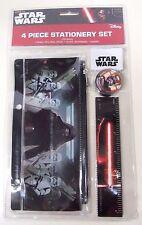 Disney STAR WARS Force Awakens 4 Piece Stationery Set, Ruler, Eraser, Sharpener