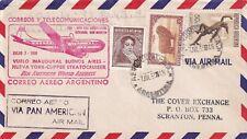S1383-ARGENTINA, BUSTA POSTA AEREA CON CONTENUTO, PER SCRANTON-PENNA ( USA),1950