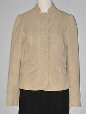 GAP Size 10 Beige Washable Fully-Lined Striped Long Sleeve Button Down Blazer