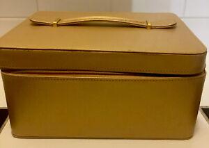 Estée Lauder Make Up Vanity Gold Large Bag Carry Case