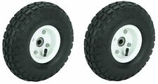 2 Tire Set 10 Inch Steel Air Pneumatic Hand Truck Dolly Wagon Industrial Wheel