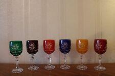 6 Römer Kristallgläser Rotwein Wein Glas 24% Bleikristall Set in 6 Farben OVP