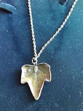 "Bronze look ivy on pendant necklace with 18 "" approx chain Pagan Wicca Witch"