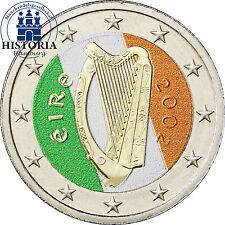 Irland 2 Euro Münze bfr. Keltische Harfe in Farbe
