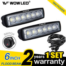 WOW - 2 X 18W LED Light Bar Truck Boat ATV UTE Lamp Light Bat 4X4 + Wiring Kit