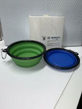 COMSUN 2-Pack Extra Large Size Collapsible Dog Bowl, Food Grade Silicone BPA Cup