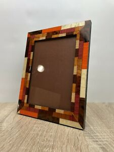 """Italian Inlaid Wood Natalini Marquetry Photo Picture Frame 5x7"""" Wooden Italy"""