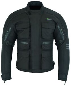 Mens Motorbike Motorcycle CJ1 Jacket Windproof / Waterproof With CE Armours