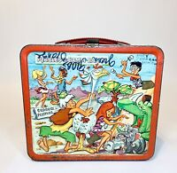 Vintage 1971 Pebbles and Bamm-Bamm Metal Aladdin Lunchbox NO THERMO CUP