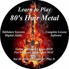 80's Hair Metal Guitar TABS Lesson CD Over 2700 Songs! + BONUS!