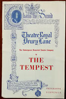 The Tempest by William Shakespeare, Theatre Royal Drury Lane Programme 1957